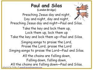 Photo of Paul and Silas Christian Nursery Rhyme