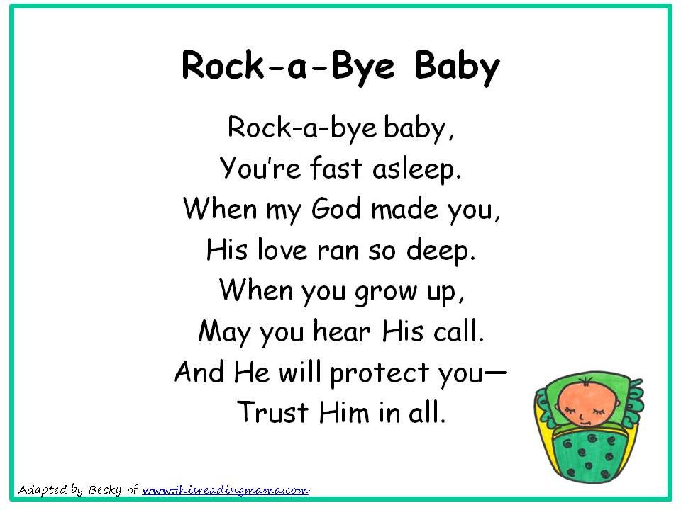 Photo Of Rockabye Baby Nursery Rhyme