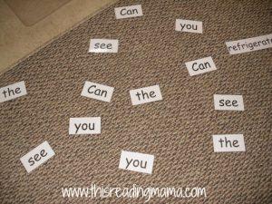 build the sentence race