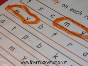 preschool sight word search