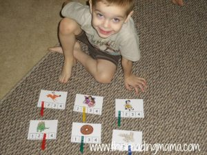 syllable count and clip with letter d pictures