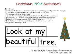 Christmas Print Awareness