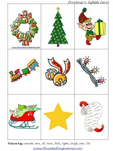 1 Syllable Christmas Pictures