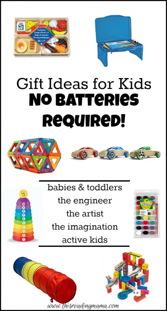 Gift Ideas for Kids - NO Batteries Required - This Reading Mama