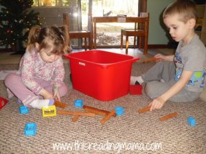 L is for Lincoln Logs