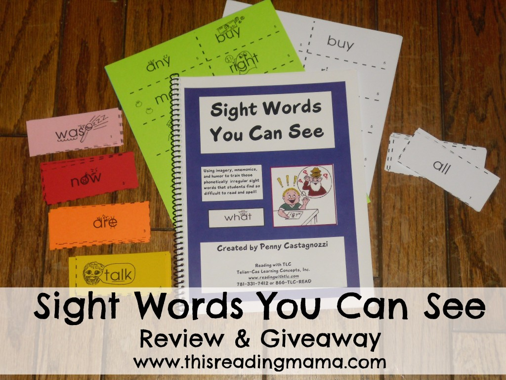 photo of Sight Words You Can See-Review and Giveaway {This Reading Mama}