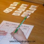 photo of Spin a Pattern Game with Long o word sort