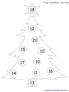 Tree Numbers 1-20