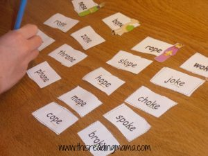 photo of long o word sort