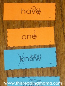 photo of mnemonic cues for silent letters in sight words