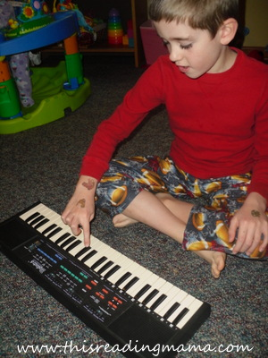 photo of playing the keyboard