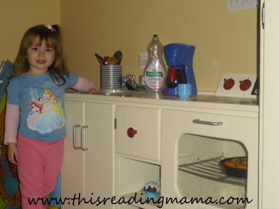 photo of homemade wooden kitchen set