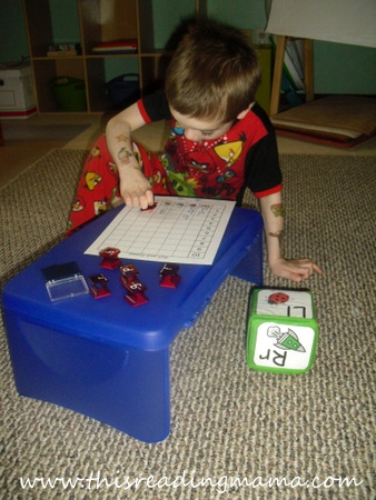 FREE Roll and Stamp a Letter Activity with Education Cube