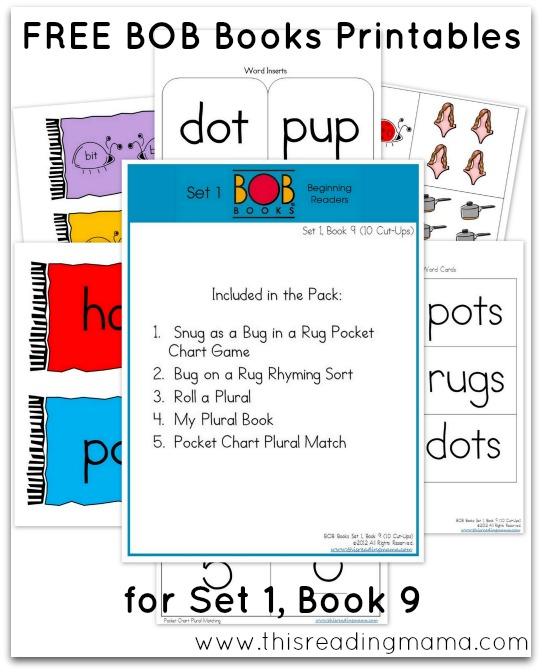 FREE BOB Books Printables-Set1-Book9 This Reading Mama