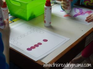 Letter I do-a-dot paint sheet