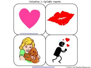 Valentines Roll a Syllable Activity