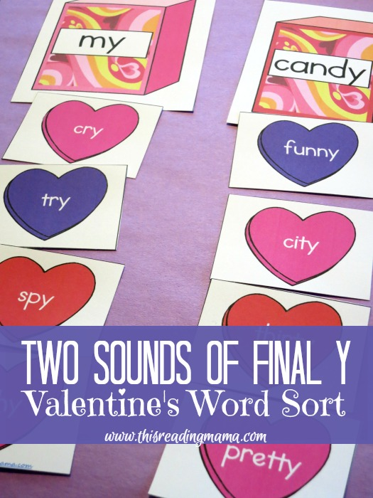 FREE Valentine's-Themed Sort: The Two Sounds of Final Y