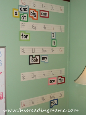 Word Wall for Reading the Alphabet