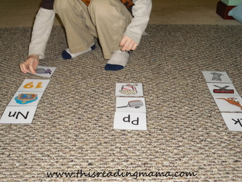 Initial Sound Picture Sort for letters N, P,and K {This Reading Mama}