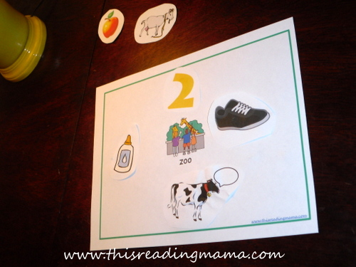 photo of Gluing Rhyming Words {This Reading Mama}