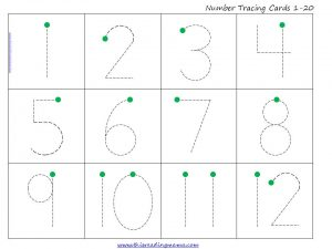 free download, Tracing Numbers 1-20