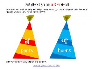 FREE Bossy R Word Sort   AR and OR {This Reading Mama}