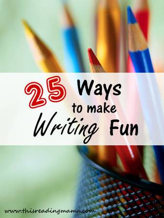 photo of 25 Ways to Make Writing Fun {with giveaway} | This Reading Mama