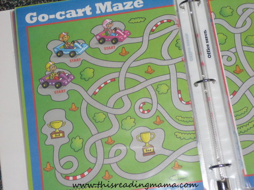 photo of reworking mazes and puzzles in a plastic sleeve protector