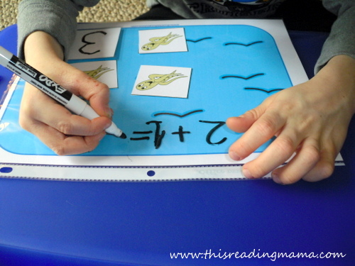 using manipulatives to count and write number equations | This Reading Mama