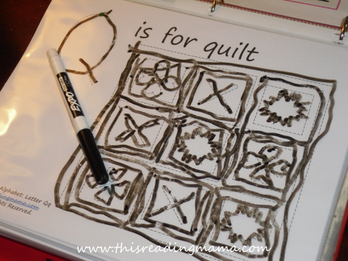 photo of Quilt Tracing Page | This Reading Mama