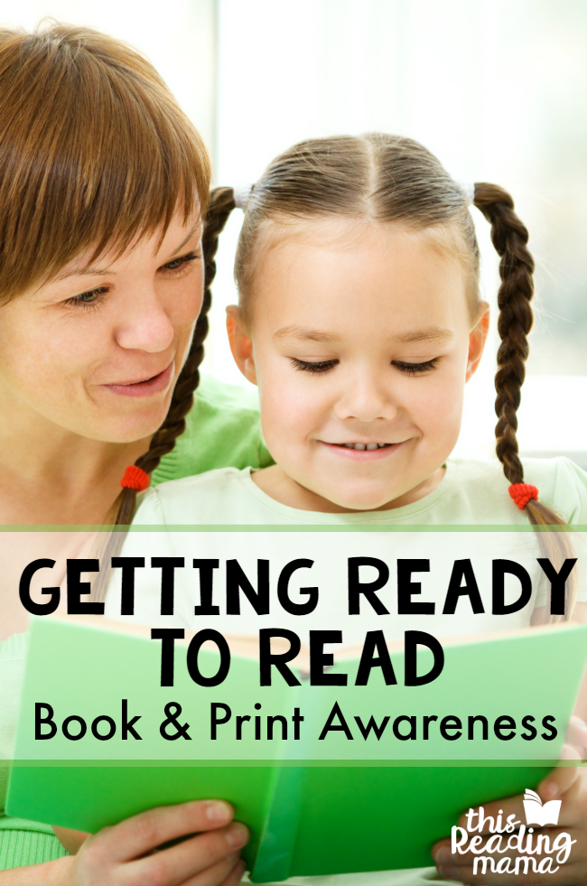 Getting Ready to Read - Book and Print Awareness - This Reading Mama