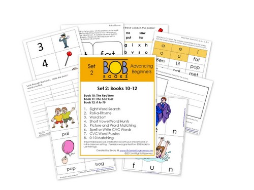photo of FREE BOB Book Printables for Set 2, Books 10-12 | This Reading Mama