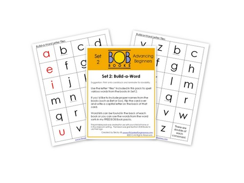 photo of FREE BOB Book Printables-Set 2 Build-A-Word Activity | This Reading Mama