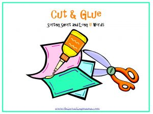 photo of Cut and Glue: Short and Long u Word Sort | This Reading Mama