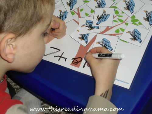 photo of writing a number sentence with manipulatives | This Reading Mama