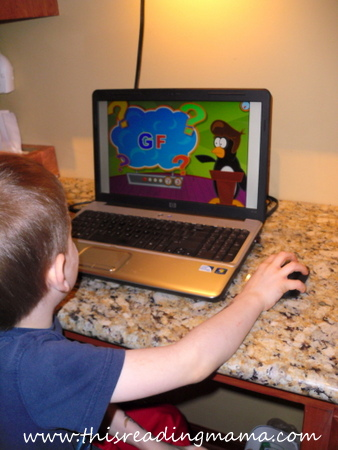photo of PreK Letter Games on Time 4 Learning | This Reading Mama