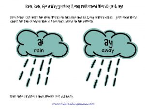 photo of FREE Long a-Patterned Word Sort {ai and ay} | This Reading Mama