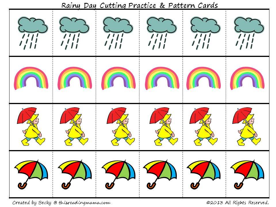 FREE Rainy Day PreK Pack