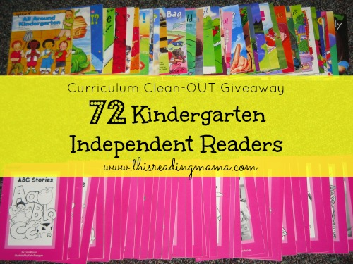 72 Kindergarten Independent Readers Curriculum Clean-OUT Giveaway | This Reading Mama