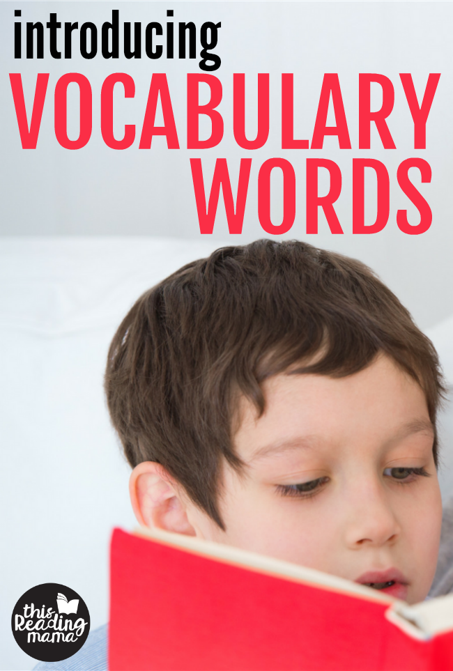 Introducing Vocabulary Words - Before They Read Part 2 - This Reading Mama