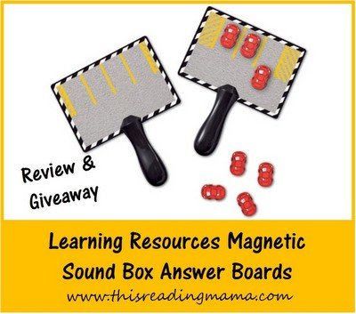 Learning Resources Magnetic Sound Box Answer Boards {Review and Giveaway} | This Reading Mama