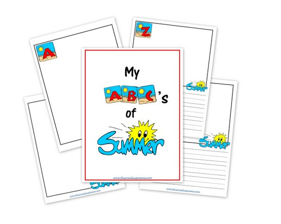 graphic relating to Reading Journal Printable identify My ABCs of Summer season a Absolutely free Printable Magazine