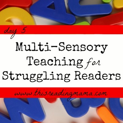 Multi-Sensory Teaching for Struggling Readers | This Reading Mama