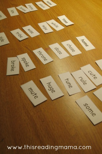 Long Vowel (Silent e) Review Word Sort | This Reading Mama