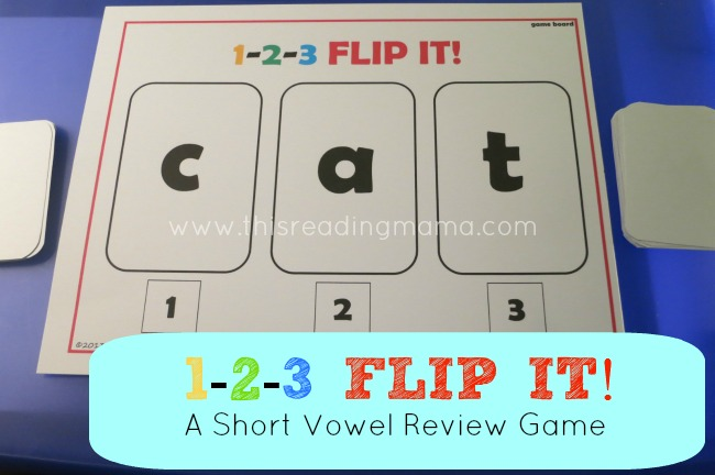 1-2-3 FLIP IT! {a FREE Short Vowel Review Game} | This Reading Mama
