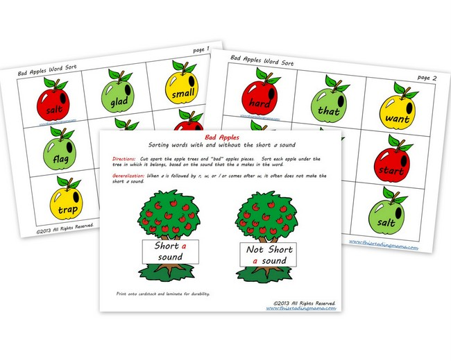Bad Apples - FREE Word Sort | This Reading Mama