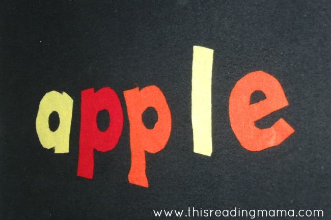 Spelling words on felt board | This Reading Mama
