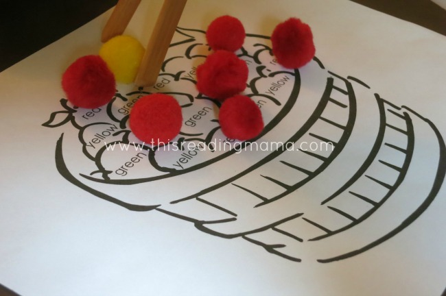 Using Tongs with Pom Poms for Fine Motor | This Reading Mama