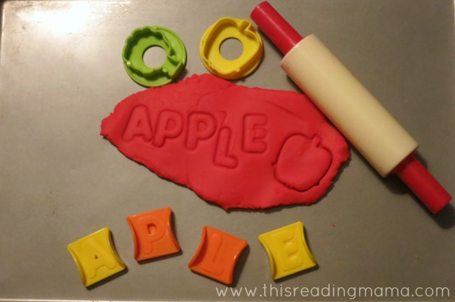 Spelling Apple with Playdough | This Reading Mama