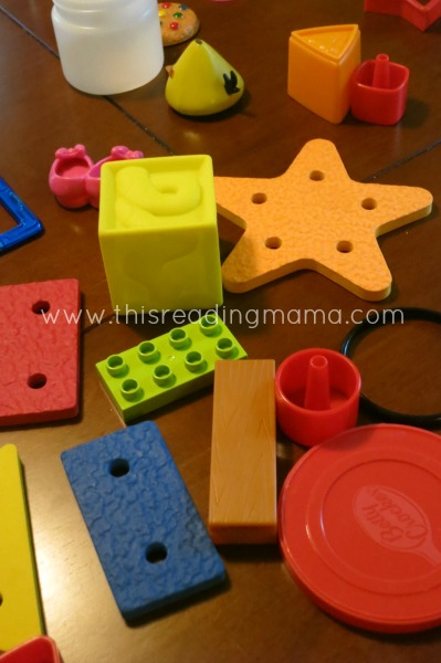 finding shapes around our house | This Reading Mama